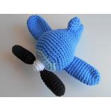 Avión Crochet Amigurumi Colgante Móvil Bebé Niño Decoración