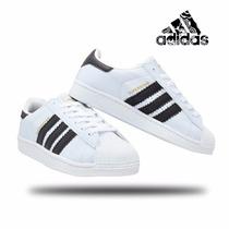 Tênis Adidas Superstar Feminino E Masculino+frete Grátis