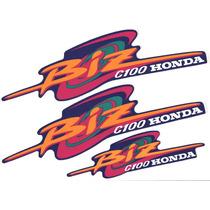 Kit Adesivos Honda Biz C 100 1998 1999 Azul