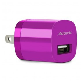 Acteck Cargador Celular De Pared Usb 1a Rosa Cd-002