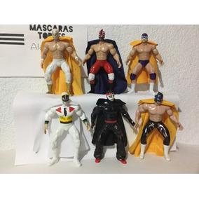 Lote De 10 Luchadores Articulados De 20cm Wwe Cmll Aaa
