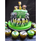 Tortas Decoradas Animales Selva Cookies Cupcakes Cakepops