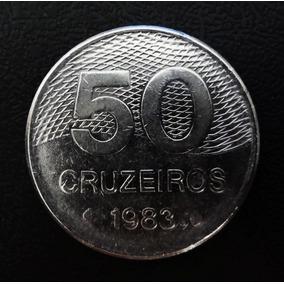 Moedas De 50 Cruzeiros 1982, 1983 E 1984