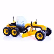 Mini Trator Motoniveladora De Brinquedo - Com Frete Grátis