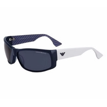New Emporio Armani Ea 9700-4o372 Blue / White Sunglasses