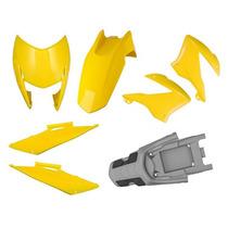 Kit Plástico Carenagem P/ Honda Bros 150 Ano 2009 - Amarelo