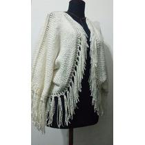 Saquito Bolero Telar Y Crochet Lana Merino Sedificada Oferta