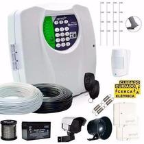 Kit Cerca Elétrica 120 Mts + Alarme Sem Fio