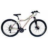 Bicicleta First Feminino Câmbios Shimano Garfo C/ Suspensão