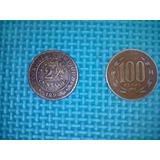 Moneda Cobre Chile Dos Y Medio 2 1/2 Centavos 1898