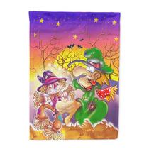 Bruja Vudú Espantapájaros De Halloween Bandera Canvas Tama