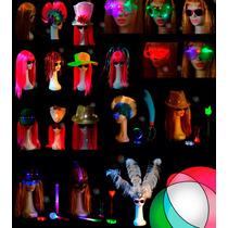 Cotillon Luminoso 100 Articulos Combo Fiesta Led 50 Personas