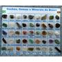Coleção De Rochas E Minerais Do Brasil - Estojo C/ 45 Pedras