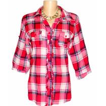 Camisa Feminina Xadrez Dudalinda Flor