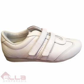 Tênis Feminino Conforto Couro Velcro Marina Mello 9005