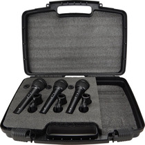 Kit Kadosh 3 Microfones Profissionais + Cabos Xlr K50