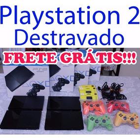 Playstation 2 + Caixa + 10 Jogos + 2 Controles + Memory Card