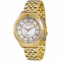 Relógio Lince Feminino Fundo Madrepérola C/ Pedras Lrg4324l
