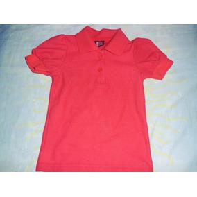 Camisa Preescolar Roja Para Niña Talla 2 Marca Bambino