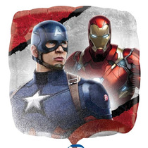 Oferta 10 Globos Civil War Capitan America Iroman Envío Bara