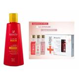 Clinic Hair Uti Minas Flor - Ampolas 20ml + Shampoo 300ml