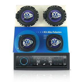 Kit Som Original Vw Gol G5 G6 Cd Player Mp3 + 4 Alto Falante