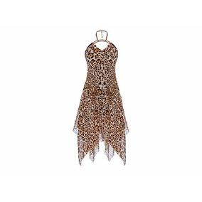 Vestido Animal Print Leopardo Moda Naciona Ch- Extra Grande