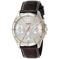 Casio Enticer Cronógrafo Esfera Blanca Hombres Watch - Mtp