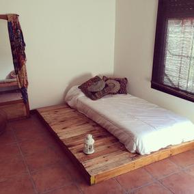 Cama de tarimas camas en mercado libre argentina for Tarimas de madera para cama