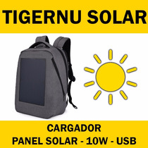 Mochila Notebook Bag Laptop Tigernu Cargador Solar Usb