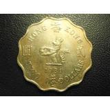 Hong Kong 2 Dolares Fecha 1981 Niquel 27mm