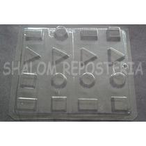 *molde Chocolate 16 Figuras Geometricas Yeso Jabon Gomita*