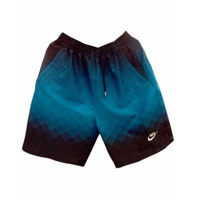 Bermuda Nike Azul E Preto Degradê