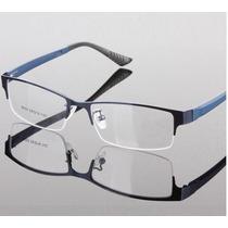 Armação Óculos Grau Metal Fio De Nylon Discreta Masculino Ba