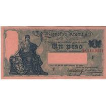 Billete Argentina $1 F.1934 Botero 1565 Exc+