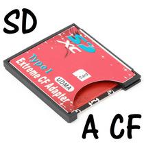 Adaptador Tarjeta Memoria Sd Sdhc A Cf Compact Flash Typo 1