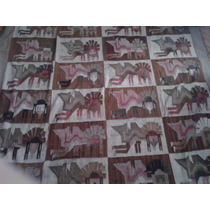 Antiguo Tapiz Telar Arte Precolombino Maya Azteca Mexico