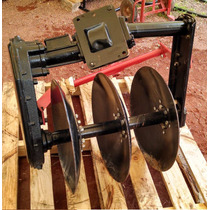 Arado Tres Discos Para Motocultor Transmison Por Engranes
