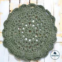Alfombrita - Tejidas Al Crochet Con Totora