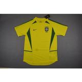Camisa Retro Seleção Brasileira 2002 Home - Nova!