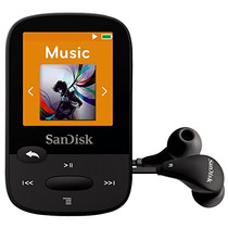 Sandisk Sport Clip De 4gb Mp3 Player, Negro Con Pantalla Lc