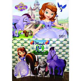 Kit Displays Princesa Sofia 8 Peças + Painel 2,00x1,40 Mdf