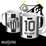 Caneca Santos Futebol Clube - Personalize Nome E Número!