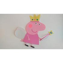 Figura En Goma Eva Peppa Pig Hada 50 Xms