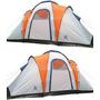 Carpa 6 Personas Camping Impermeable 3 Habitaciones/comedor