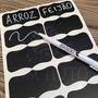 30 Etiquetas Adesiva Lousa Quadro Negro + Caneta Giz Líquido