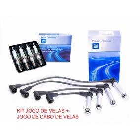 Kit Jogo De Cabos + Jogo Velas Celta Corsa 1.0 Mpfi Gasolina