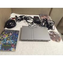 Sony Playstation 2 Slim Prata Modelo Scph79001