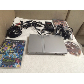 Sony Playstation 2 Slim Prata Modelo Scph79001