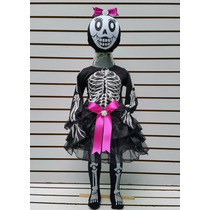 Disfraz Tutu Esqueleto Calaca Calavera Muerte Halloween